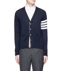 stripe sleeve wool cardigan