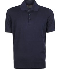 brunello cucinelli plain ribbed polo shirt