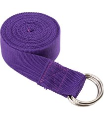 everyday yoga 10 foot strap d-ring plum nylon