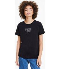 downtown edge t-shirt, zwart/aucun, maat l   puma