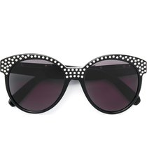 philipp plein crystal embellished sunglasses - black