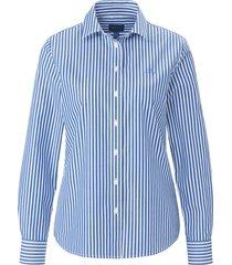blouse van 100% katoen met lange mouwen van gant blauw
