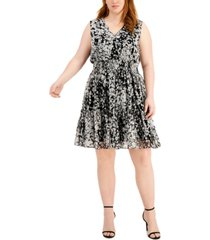taylor plus size sleeveless peasant dress
