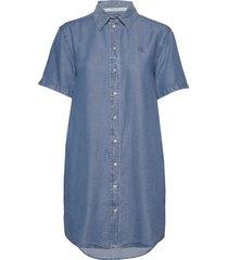 indigo tencel ss dress korte jurk blauw calvin klein jeans