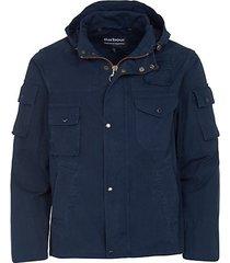 multi-pockets cotton-blend hooded jacket