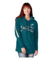 g-iii sports philadelphia eagles women's double team tunic hoodie
