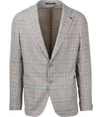 unstructured check blazer