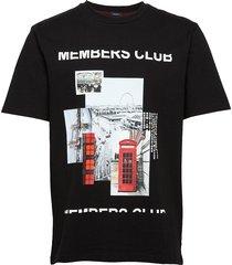 tempo 3 t-shirts short-sleeved svart boss