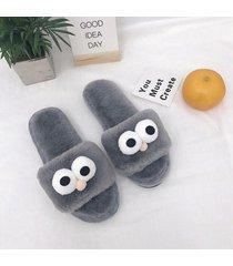 confortable cálida antideslizamiento pantuflas zapatos de mujer invierno zapatilla