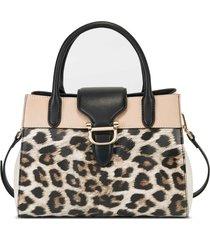 cartera satchel bedford nine west para mujer leopard animal print