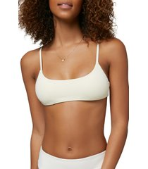 o'neill surfside saltwater solid bralette bikini top, size small in vanilla at nordstrom