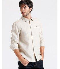 camisa m/l 100% lino