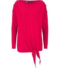 stickad tröja med knytband, oversizemodell
