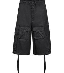 moncler cotton cargo bermuda shorts