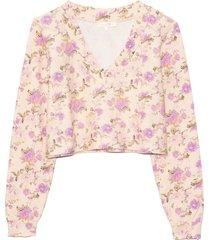 tamika v-neck pullover in ultra violet clouds