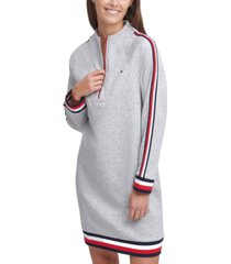 tommy hilfiger funnel-neck zip dress