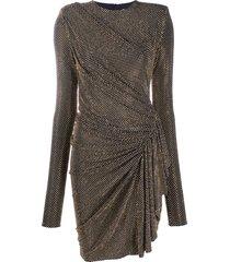 alexandre vauthier studded ruffle mini dress - black