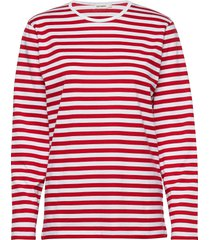 pitkähiha 2017 shirt t-shirts & tops long-sleeved rood marimekko