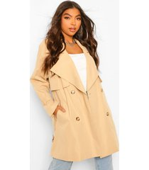 lang luxe utility trenchcoat, steenrood