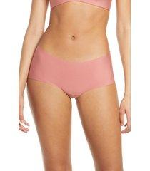 women's commando butter seamless hipster panties, size small - pink