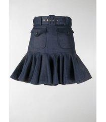 zimmermann ruffled belted skirt