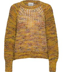 oak knit o-neck gebreide trui geel second female