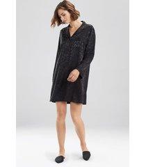 natori decadence sleepshirt pajamas, women's, beige, size l natori