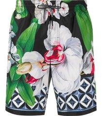 dolce & gabbana floral swim shorts - green