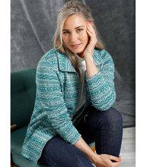 fleece vest miamoda grijs::groen