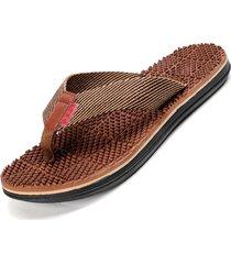 zapatillas de hombre sandalias de masaje - color caqui