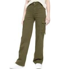 jeans cargo ancho verde five