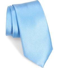 men's nordstrom solid silk x-long tie, size x-long - blue