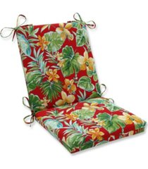 pillow perfect beachcrest poppy squared corners chair cushion