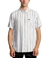 rvca men's merced stripe shirt
