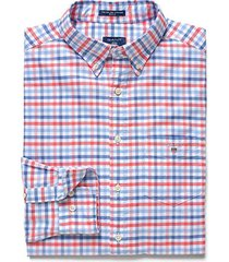 gant oxford 3 col gingham overhemd rood