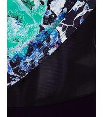 baddräkt maritim svart/blå/grön