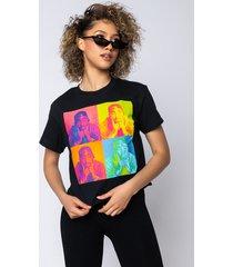 akira tupac multi cropped t shirt