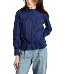 olympia embroidered cotton blouse