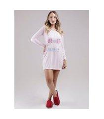 camisola manga longa feminino rosa