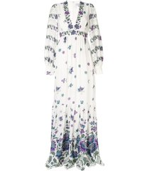 andrew gn woven maxi dress - white