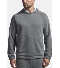 cotton terry seamed hoodie