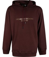 opening ceremony embro text logo regular hoodie