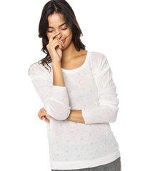 sweater blanco moni tricot con perlas