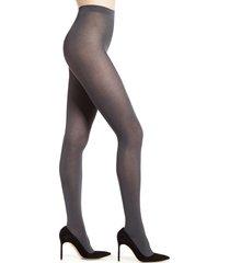 women's falke cotton touch 65 opaque tights, size medium - grey