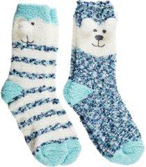 totes women's 2-pack supersoft novelty toastie slipper socks