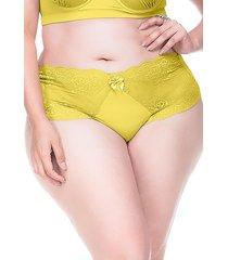 calcinha sempre sensual lingerie retrô amarelo