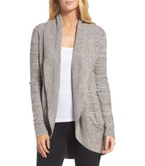 women's barefoot dreams cozychic(tm) lite circle cardigan, size x-small/small - beige