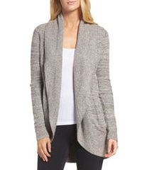 women's barefoot dreams cozychic lite circle cardigan, size medium - beige