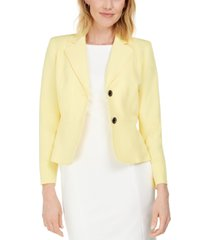 kasper petite crepe two-button blazer