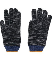 missoni embroidered knitted gloves - black